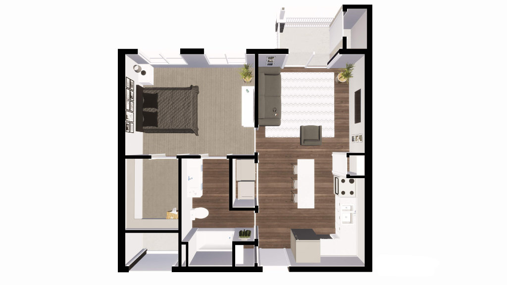 1 Bedroom Apartment at MillpondApartments